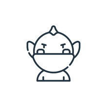 Troll Icon Vector From Videogame Elements Concept. Thin Line Illustration Of Troll Editable Stroke. Troll Linear Sign For Use On Web And Mobile Apps, Logo, Print Media.