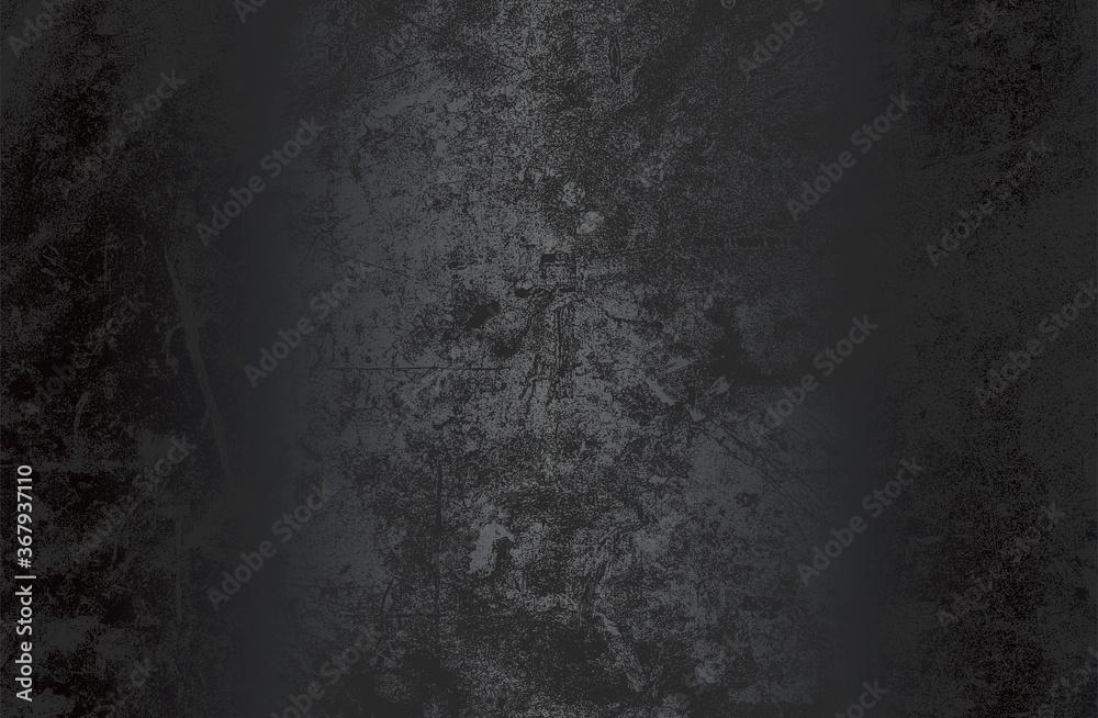 Fototapeta Luxury black metal gradient background with distressed metal plate texture.