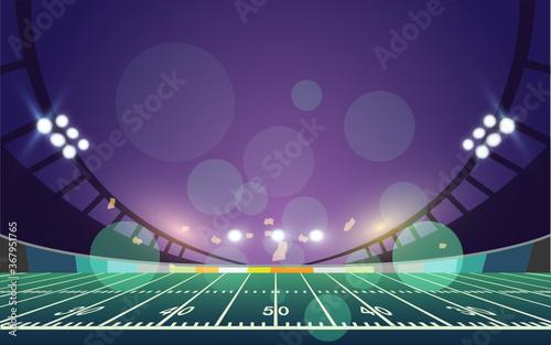 Fotografija American football arena field. vector design.