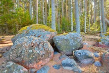 Stones With Moss And Lichen, E...