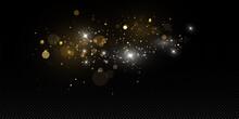 Vector Sparkles On A Transpar...