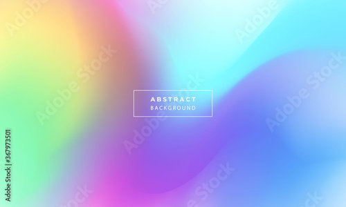 Abstract colorful liquid gradient background Ecology concept for your graphic de Fototapeta