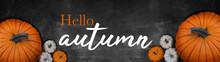 Hello Autumn Banner Background...