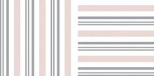 Stripe Patterns In Grey, Pink,...