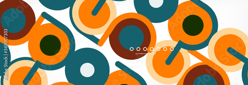 Obraz Circles and lines abstract background for covers, banners, flyers and posters and other templates - fototapety do salonu