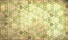 Yellow Green Kaleidoscope Patterned Background For Wallpapers