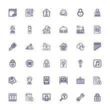Editable 36 Key Icons For Web And Mobile