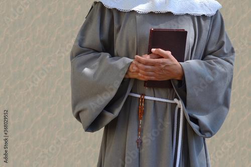 Illustration d'une religieuse avec missel et chapelet Canvas Print