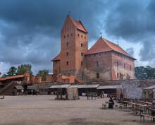 Inner Courtyard Of The Trakai ...