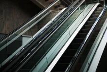 Escalator Inside Modern Shoppi...