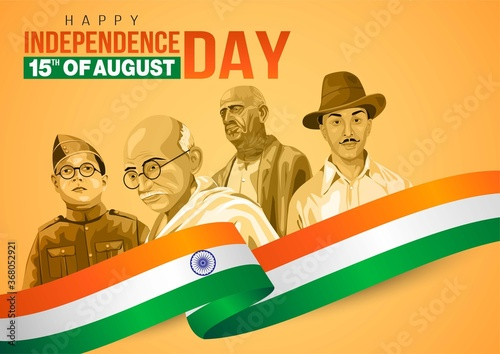 happy Independence day 15th august Happy independence day of India Canvas Print