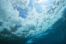 Underwater Sea Foam Made By Wa...