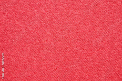 Red fabric cloth texture background close up