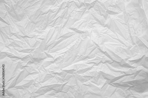 White plastic bag background texture close up