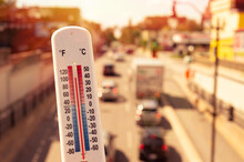 Thermometer In Front Of Cars A...