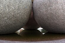 Granite Balls With Water Refle...