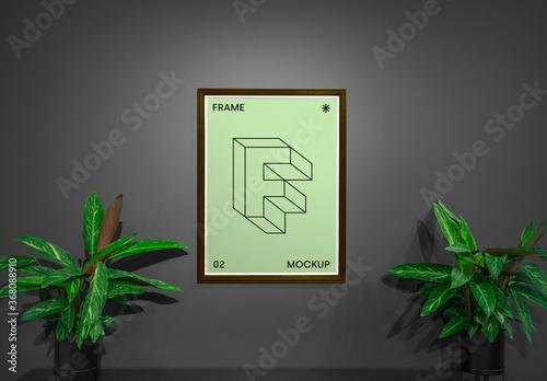 Obraz Poster with Plants Mockup - fototapety do salonu
