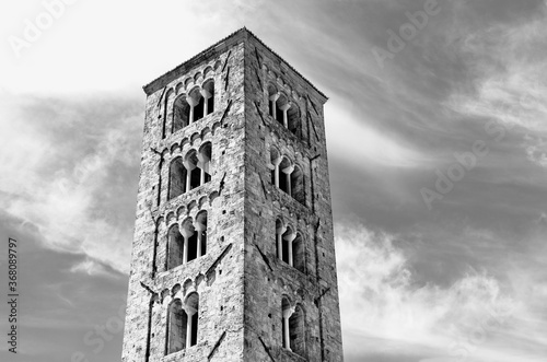 ANAGNI-ITALY-July 2020 -bell tower -black and white photography Canvas Print