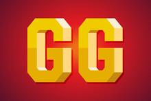 GG, Good Game Speech. 3d Text ...