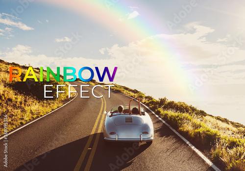 Obraz Rainbow Effect Mockup - fototapety do salonu