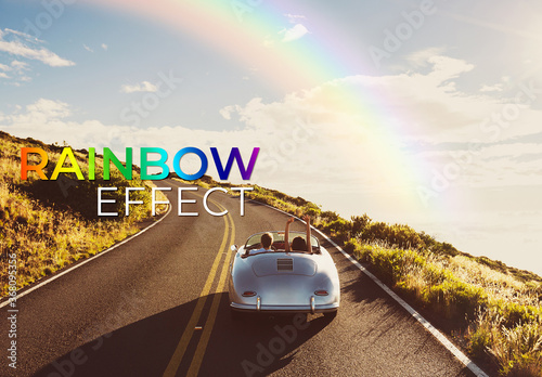 Fototapeta Rainbow Effect Mockup obraz