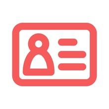 ID Card Icon. Company Visit Ca...