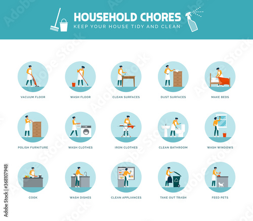 Tela Woman doing household chores at home