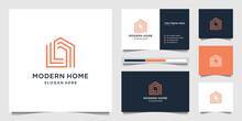 Logo Modern Home For Construct...