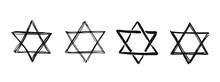 Star Of David. Hand-drawn Styl...