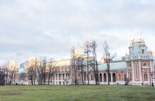 18 Th Century Palace In Tsaritsyno Park, Moscow, Russia
