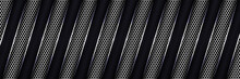Abstract Luxury Silver Hexagon Carbon Fiber Grid With White Luminous Lines Background