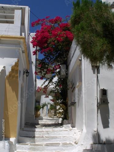 Grèce - Les Cyclades - Île de Paros - Ruelle à Lefkès