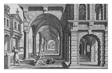 Arcade With Columns Of The Tus...