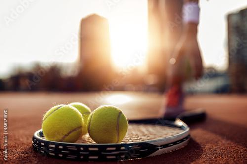 Fotografía Close up on tennis ball