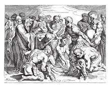 Sacrifice Of Black Beasts, Vintage Illustration.
