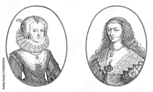 Fotografie, Obraz Portraits of the Courtesans Called Mistress Mary C