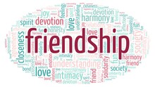 Friendship Word Cloud Isolated...