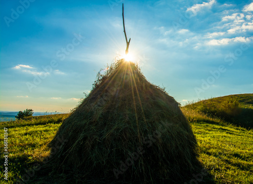 Obraz na plátně the sun on a haystack
