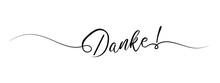Danke Letter Calligraphy Banne...