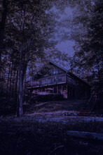 Abandoned House In The Woods A...