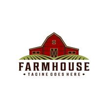 Farmhouse / Warehouse Vintage Retro Hipster Logo Design