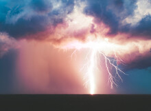 Large Lightning Strike As Seen...