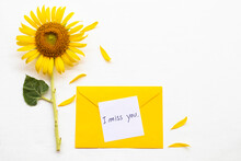 I Miss You Message Card Handwr...