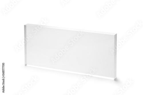 Obraz na plátně blank acrylic block isolated on white background