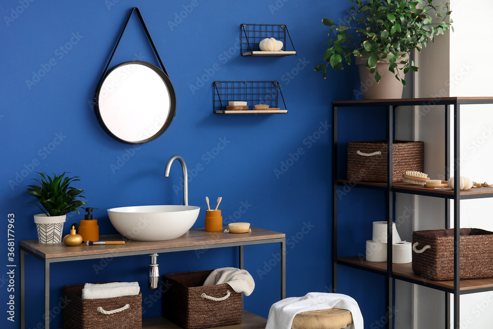 Fototapeta Interior of modern stylish bathroom