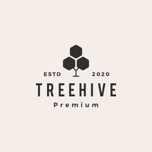 Hexagon Tree Hive Hipster Vint...