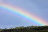 Fototapeta Tęcza - Tęcza na niebie po letnim deszczu