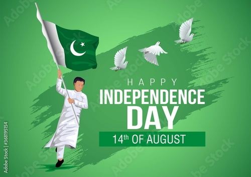 Fotomural 14th of august happy independence day pakistan