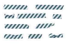 Vector Striped Wrinkled Washi ...