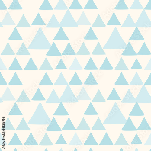 Tapeta niebieska  cute-triangle-seamless-pattern-light-blue-abstract-geometric-background-for-fabric-textile-wrapping-paper-scrapbooking-surface-pattern-vector-design